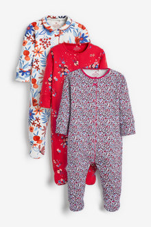 Next 3 Pack Floral Sleepsuits (0mths-2yrs) - 277030