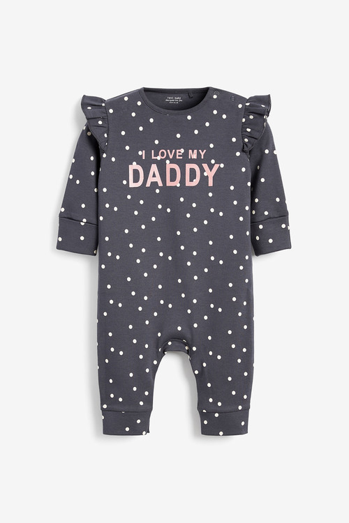 Next GOTS Organic I Love My Daddy Polka Dot Footless Sleepsuit (0mths-