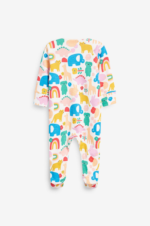Next 3 Pack Character Floral Sleepsuits (0mths-2yrs)
