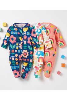 Next 3 Pack Character Floral Sleepsuits (0mths-2yrs) - 277037
