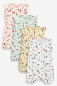 Next 4 Pack Multi Floral Rompers (0mths-3yrs) - 277044