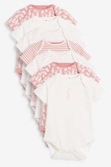 Next 7 Pack Spot Bunny Short Sleeve Bodysuits (0mths-3yrs) - 277049