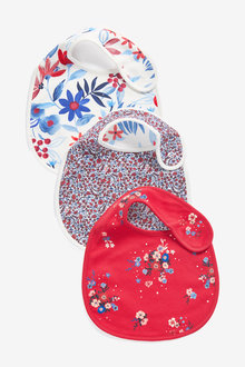Next 3 Pack Floral Regular Bibs - 277054