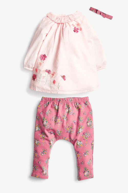 Next Embroidered Tunic, Leggings And Headband Set (0mths-3yrs)