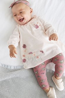 Next Embroidered Tunic, Leggings And Headband Set (0mths-3yrs) - 277064