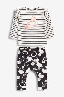 Next Bunny Frill Sleeve Top And Legging Set (0mths-2yrs) - 277065