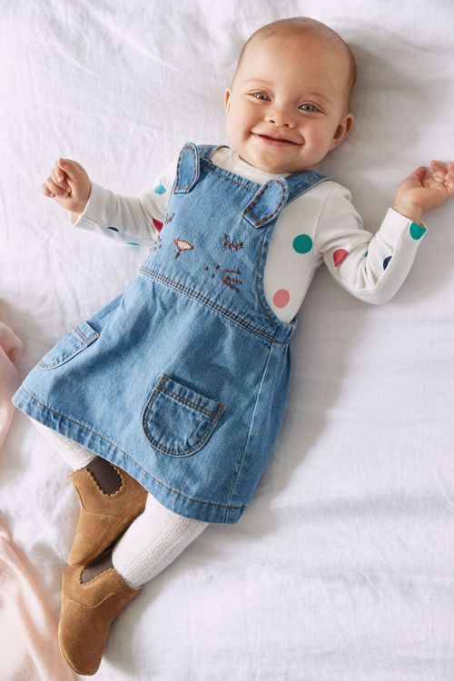 Next Pinafore And Bodysuit Set (0mths-2yrs)