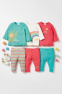 Next 3 Pack Bright Jersey Tops (0mths-2yrs) - 277106