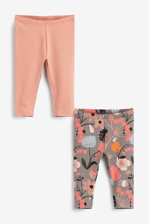 Next 2 Pack Floral Leggings (0mths-2yrs)