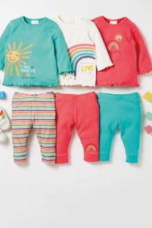 Next 3 Pack Bright Jersey Leggings (0-18mths) - 277119