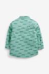 Next Long Sleeve Crocodile Print Grandad Shirt (3mths-7yrs)