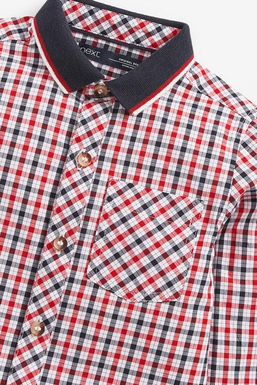 Next Long Sleeve Oxford Check Shirt (3mths-7yrs)