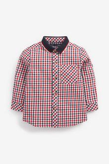 Next Long Sleeve Oxford Check Shirt (3mths-7yrs) - 277304