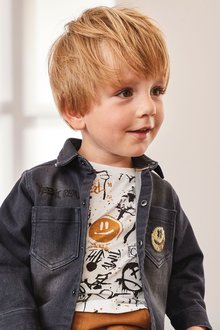 Next Long Sleeve Denim Shirt And T-Shirt Set (3mths-7yrs) - 277305