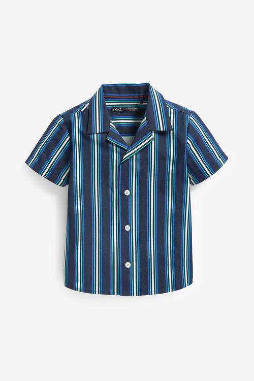 Next Short Sleeve Stripe Rever Shirt (3mths-7yrs)