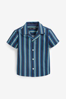 Next Short Sleeve Stripe Rever Shirt (3mths-7yrs) - 277314