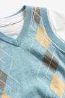 Next Argyle Knitted Tank And T-Shirt Set (3mths-7yrs)
