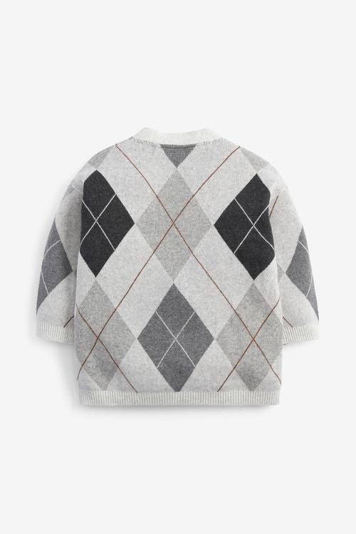Next Argyle Pattern Button Through Cardigan (3mths-7yrs)