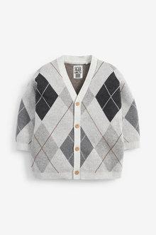 Next Argyle Pattern Button Through Cardigan (3mths-7yrs) - 277322