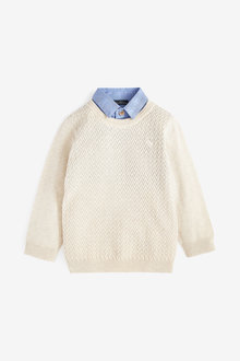 Next Textured Mock Shirt Jumper (3mths-7yrs) - 277324