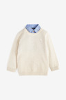Next Textured Mock Shirt Jumper (3mths-7yrs)