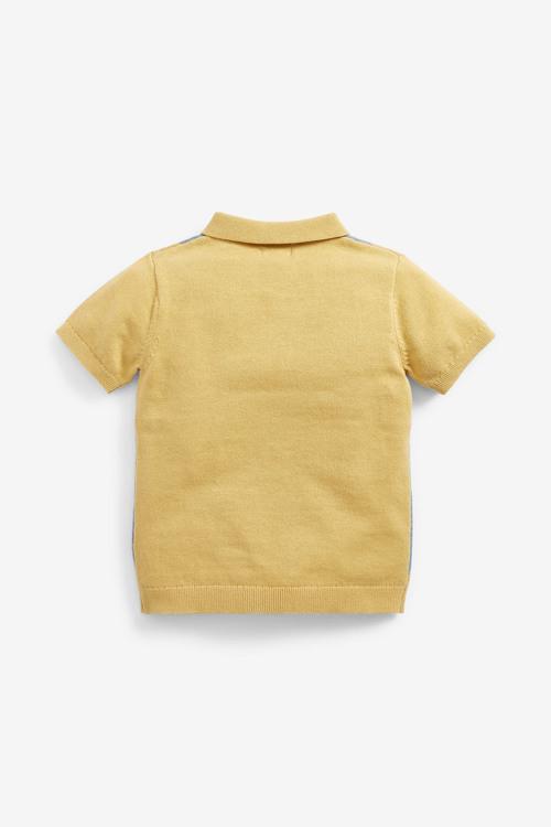 Next Knitted Argyle Pattern Poloshirt (3mths-7yrs)