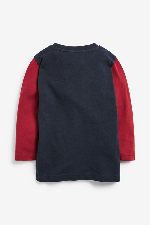 Next Long Sleeve Colourblock T-Shirt (3mths-7yrs)
