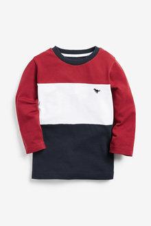 Next Long Sleeve Colourblock T-Shirt (3mths-7yrs) - 277353