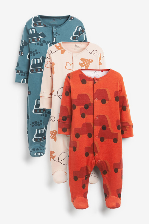 Next 3 Pack Transport Sleepsuits (0-2yrs)