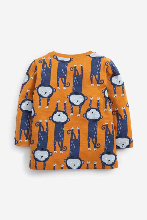 Next Long Sleeve All-Over Print T-Shirt (3mths-7yrs)