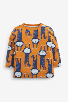 Next Long Sleeve All-Over Print T-Shirt (3mths-7yrs) - 277356
