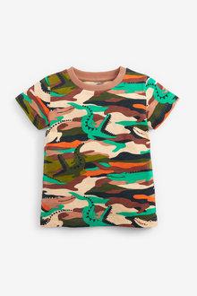 Next Short Sleeve All Over Print Camo T-Shirt (3mths-7yrs) - 277365