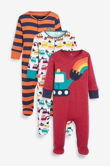Next 3 Pack Transport Sleepsuits (0-2yrs) - 277381