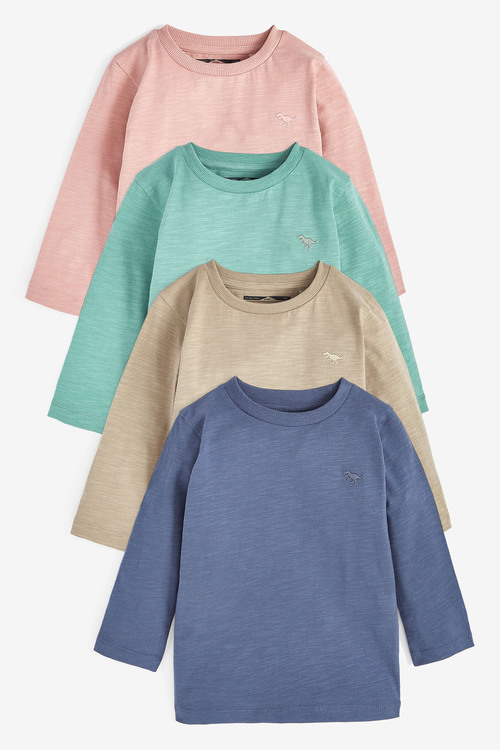 Next 4 Pack Sueded Plain T-Shirts (3mths-7yrs)