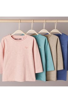 Next 4 Pack Sueded Plain T-Shirts (3mths-7yrs) - 277384