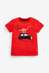 Next 3 Pack Appliquu Taxi T-Shirts (3mths-7yrs)