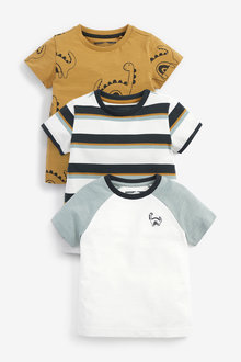 Next 3 Pack Dino Printed T-Shirts (3mths-7yrs) - 277403