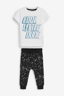 Next Little Man T-Shirt and Jogger Set (3mths-7yrs) - 277406