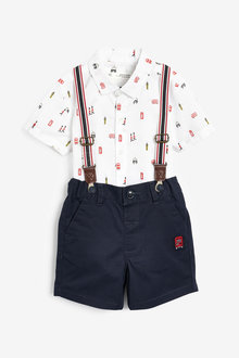 Next London Shirt And Shorts Set (3mths-7yrs) - 277411