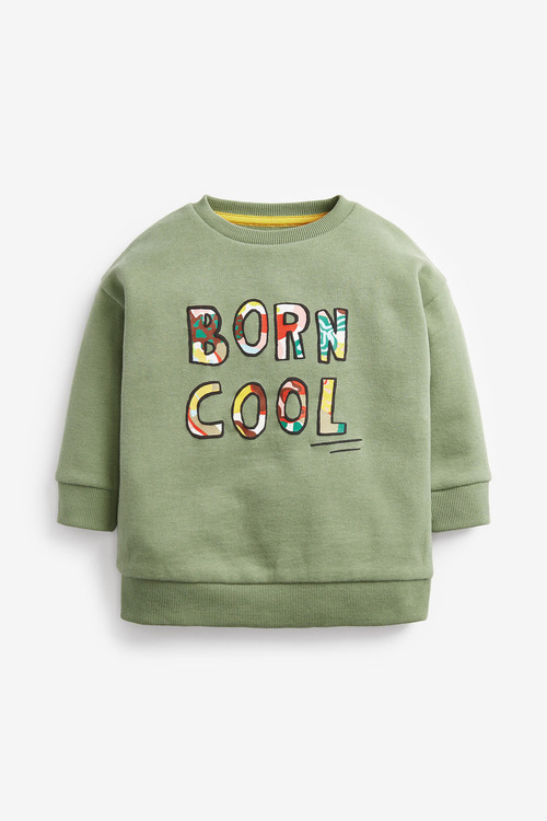 Next Born Cool Slogan Crew Jumper (3mths-7yrs)