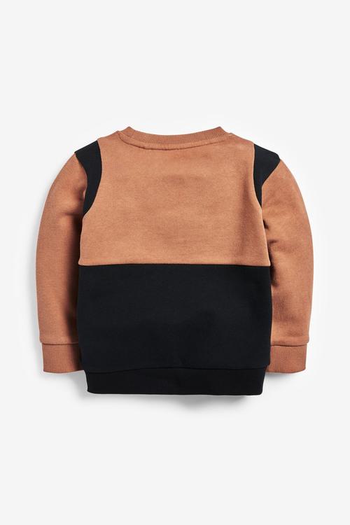 Next Colourblock Crew Neck Sweater (3mths-7yrs)