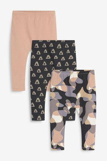 Next 3 Pack Jersey Scandi Print Leggings (3mths-7yrs) - 277450