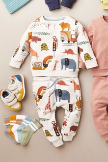 Next All Over Print Jersey Crew And Joggers Set (3mths-7yrs) - 277461