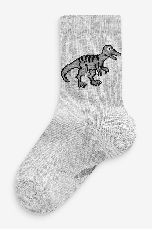 Next 7 Pack Cotton Rich Dinosaur Socks (Younger)