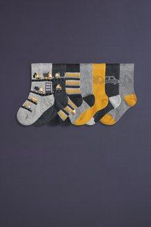 Next 7 Pack Cotton Rich Transport Socks (Younger) - 277590