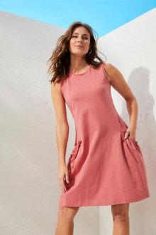 Capture Cotton Slub Pocket Dress - 277642