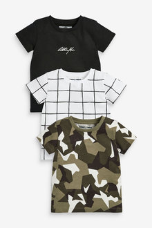 Next 3 Pack Short Sleeve All Over Print T-Shirts (3mths-7yrs) - 277745