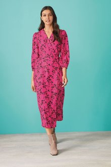 Next Wrap Dress-Regular - 277830
