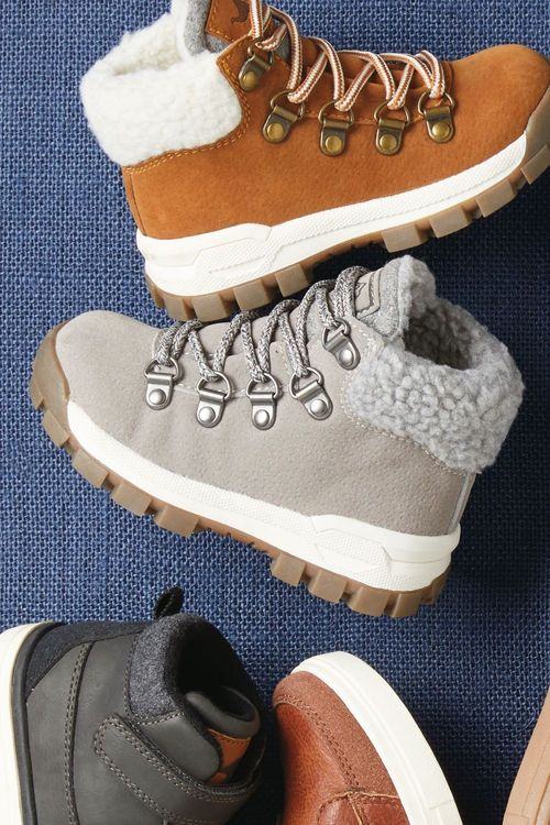 Next Lace-Up Warm Lined Walking Boots (Younger)