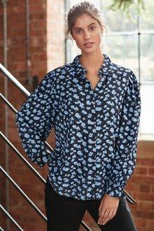 Next Curved Collar Shirt-Regular - 277866